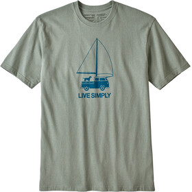 Patagonia Live Simply Wind Powered Responsibili - T-shirt manches courtes Homme - vert